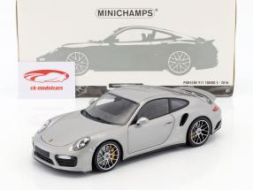 Porsche 911 (991 II) Turbo S année de construction 2016 argent 1:18 Minichamps