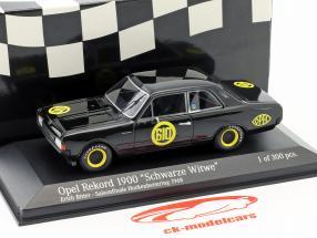 Opel Rekord 1900 black widow #610 season finale Hockenheim 1968 Erich Bitter 1:43 Minichamps