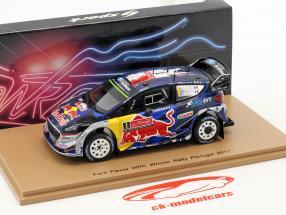 Ford Fiesta WRC #1 vincitore Rallye Portogallo 2017 Ogier, Ingrassia 1:43 Spark