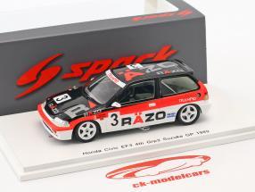 Honda Civic EF3 #3 4 ° Grp3 Suzuka GP 1989 Hattori, Tsutsumi 1:43 Spark
