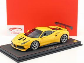 Ferrari 488 Challenge year 2016 modena yellow 1:18 BBR