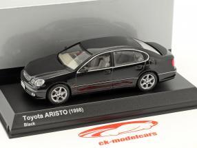 Toyota Aristo anno di costruzione 1998 nero 1:43 Kyosho
