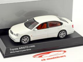 Toyota Aristo Bouwjaar 1998 kristal wit 1:43 Kyosho