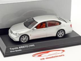 Toyota Aristo year 1998 silver metallic 1:43 Kyosho