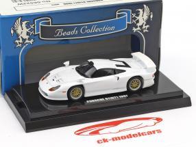 Porsche 911 GT1 year 1997 white 1:64 Kyosho