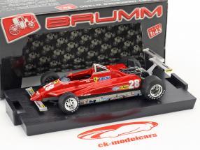 Didier Pironi Ferrari 126C2 #28 ganador EE.UU. GP Long Beach fórmula 1 1982 1:43 Brumm