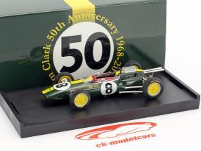 Jim Clark Lotus 25 #8 vencedor italiano GP campeão do mundo fórmula 1 1963 1:43 Brumm