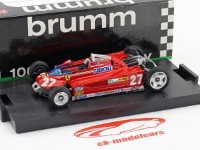 Gilles Villeneuve Ferrari 126CK #27 Winner Monaco GP Formel 1 1981 Transport-Version 1:43 Brumm