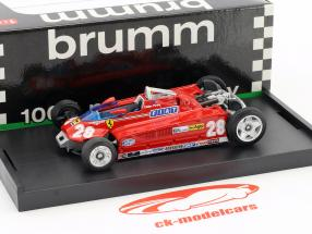 Didier Pironi Ferrari 162CK #28 4 Monaco GP formule 1 1981 Version Transport 1:43 Brumm