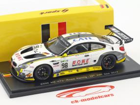 BMW M6 GT3 #98 10th 24h Spa 2017 Rowe Racing 1:43 Spark