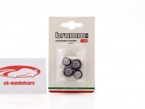 pneu Set Goodyear pour Ferrari 126 C2 formule 1 1982 1:43 Brumm