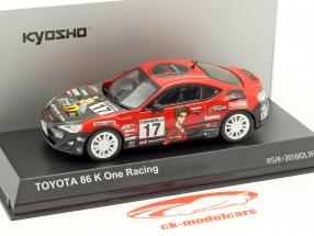 Toyota 86 #17 Initial D K One Racing year 1986 red / black 1:43 Kyosho