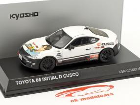 Toyota 86 Initial D Cusco Baujahr 1986 weiß / schwarz 1:43 Kyosho