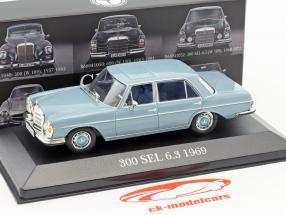 Mercedes-Benz 300 SEL 6.3 (W109) year 1968-1972 blue 1:43 Atlas