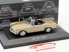Mercedes-Benz 230 SL (W113) Pagode year 1963-1967 beige 1:43 Atlas