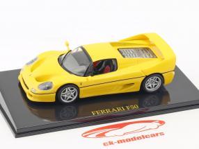 Ferrari F50 yellow with showcase 1:43 Altaya