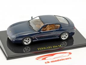 Ferrari 456 M blue metallic met vitrine 1:43 Altaya