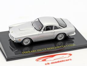 Ferrari 250 GT Berlinetta Lusso silber mit Vitrine 1:43 Altaya
