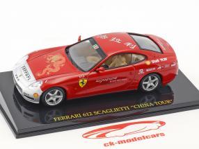 Ferrari 612 Scaglietti China Tour red / silver with showcase 1:43 Altaya
