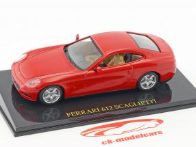 Ferrari 612 Scaglietti rouge avec vitrine 1:43 Altaya