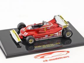 Jody Scheckter Ferrari 312 T4 #11 Weltmeister Formel 1 1979 mit Vitrine 1:43 Altaya
