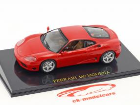 Ferrari 360 Modena red with showcase 1:43 Altaya