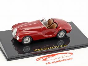 Ferrari Auto Avio rouge avec vitrine 1:43 Altaya