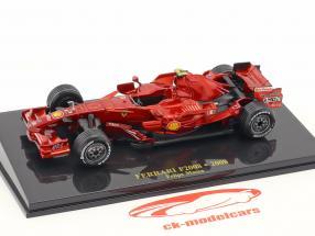 Felipe Massa Ferrari F2008 #2 formule 1 2008 avec vitrine 1:43 Altaya