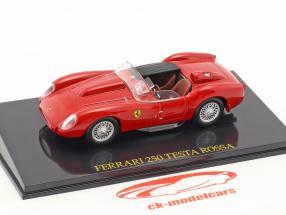 Ferrari 250 Testa Rossa rosso 1:43 con vetrina 1:43 Altaya