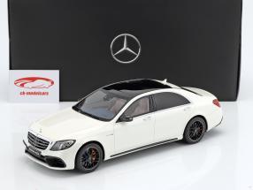 Mercedes-Benz AMG S 63 Mopf lang diamant blanc 1:18 GT-SPIRIT