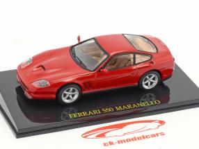 Ferrari 550 Maranello rosso con vetrina 1:43 Altaya