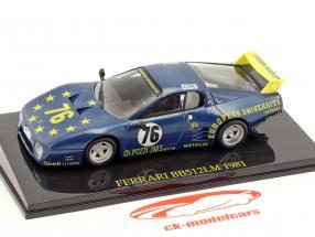Ferrari BB 512 LM #76 24h Le Mans 1981 Xhenceval, Dieudonné, Regout avec Showcase 1:43 Altaya