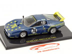 Ferrari BB 512 LM #76 24h LeMans 1981 Xhenceval, Dieudonné, Regout with Showcase 1:43 Altaya