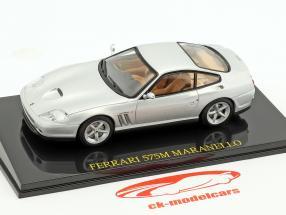 Ferrari 575M Maranello argento con vetrina 1:43 Altaya