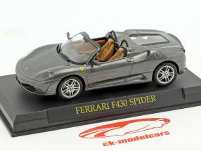 Ferrari F430 Spider gris métallisé 1:43 Altaya