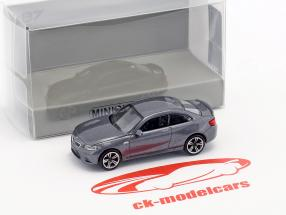 BMW M2 année de construction 2016 gris métallique 1:87 Minichamps