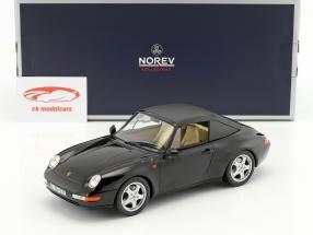 Porsche 911 (993) Carrera Cabriolet année de construction 1993 noir 1:18 Norev