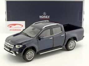 Mercedes-Benz X-klasse Opførselsår 2017 blå metallisk 1:18 Norev