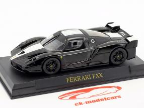 Ferrari FXX jaar 2005-2006 zwart / wit 1:43 Altaya