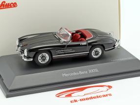 Mercedes-Benz 300 SL Roadster nero metallico 1:43 Schuco