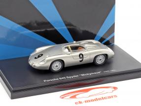Porsche 645 Spyder Mickymaus #9 anno di costruzione 1956 argento 1:43 AutoCult