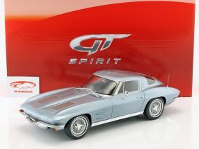 Chevrolet Corvette année de construction 1963 silberblau métallique 1:12 GT-Spirit