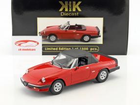 Alfa Romeo Spider 3 serie 2 con removibile softtop anno di costruzione 1986 rosso 1:18 KK-Scale