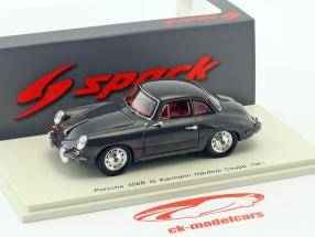 Porsche 356B t5 Karmann Hardtop coupe year 1961 black 1:43 Spark