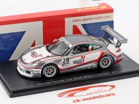 Porsche 911 GT3 Cup #28 campione Porsche Carrera Cup Gran Bretagna 2017 C. Eastwood 1:43 Spark