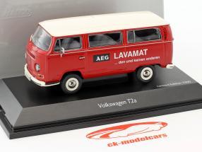 Volkswagen VW T2a Bus L Luxe AEG Lavamat rouge / blanc 1:43 Schuco