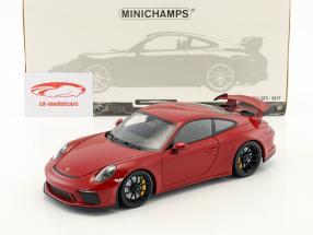 Porsche 911 (991 II) GT3 année de construction 2017 rouge 1:18 Minichamps