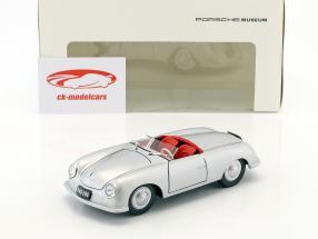 Porsche 356 Nr. 1 avec plaque d'immatriculation année de construction 1948 argent 1:24 Welly