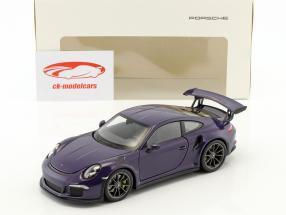 Porsche 911 (991) GT3 RS año de construcción 2016 ultravioleta 1:24 Welly