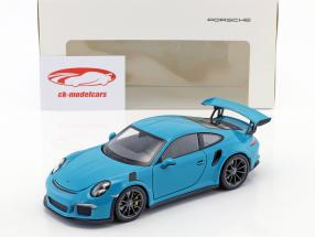 Porsche 911 (991) GT3 RS year 2016 miami blue 1:24 Welly